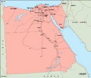 egypt_geography vector map