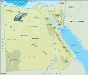 egypt_topographical vector map