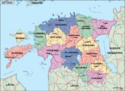 estonia_political vector map