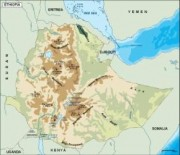 ethiopia_topographical vector map