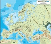europe_topographical vector map