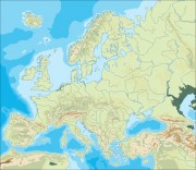 europe_topographical_blank vector map