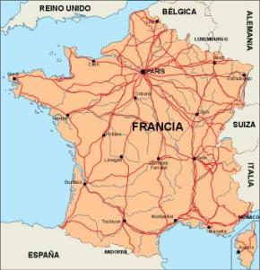 Road Map Of France.France Vector Maps Illustrator Freehand Eps Digital Files