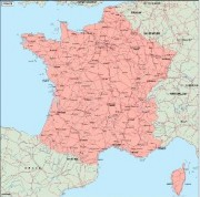 france_geography vector map