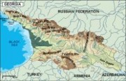georgia_topographical vector map