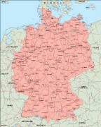 germany_geography vector map