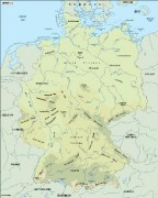 germany_topographical vector map