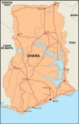 ghana_countrymap vector map