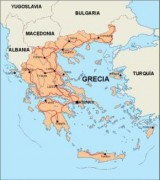 greece vector map
