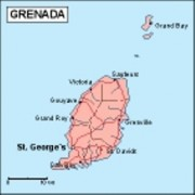 grenada_geography vector map