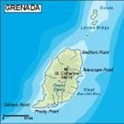 grenada_topographical vector map