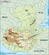 guatemala_topographical vector map