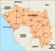 guinea_countrymap vector map