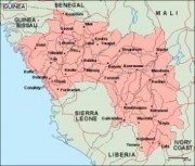 guinea_geography vector map