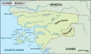 guineabissau vector map topographical