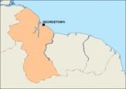 guyana_blankmap vector map