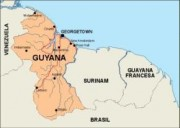 guyana_countrymap vector map