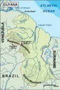 guyana_topographical vector map