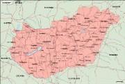 hungary vector map