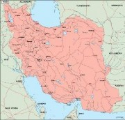 iran_geography vector map