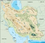 iran_topographical vector map