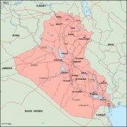 iraq_geography vector map