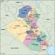 iraq_political vector map