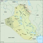 iraq_topographical vector map