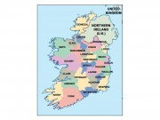 ireland powerpoint map