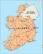 ireland_countrymap vector map
