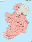 ireland_geography vector map