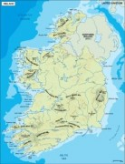 ireland_topographical vector map