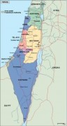 israel_political vector map