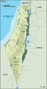israel_topographical vector map