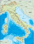 italy_topographical vector map