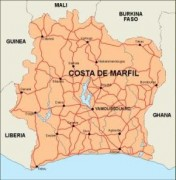 ivorycoast_countrymap vector map