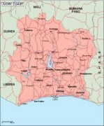 ivorycoast_geography vector map