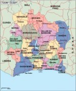ivorycoast_political vector map