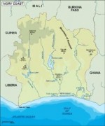 ivorycoast_topographical vector map