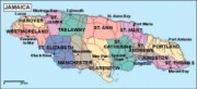 jamaica_political vector map