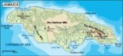 jamaica_topographical vector map