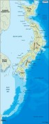 japan_topographical vector map
