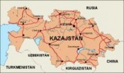 kazajstan_countrymap vector map