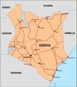 kenya_countrymap vector map
