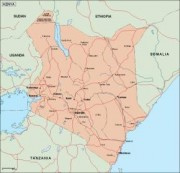 kenya_geography vector map