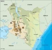 kenya_topographical vector map