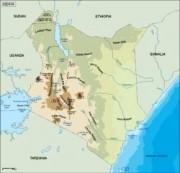 kenya_topographical vector map