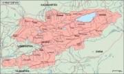 kirgizistan_geography vector map