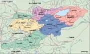kirgizistan_political vector map