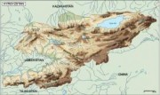 kirgizistan_topographical vector map